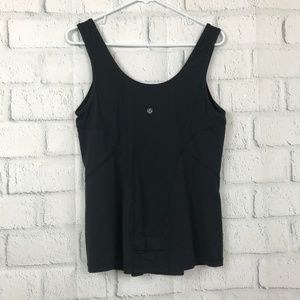 Lululemon Women 10 Tank Top Black Athletic Blouse